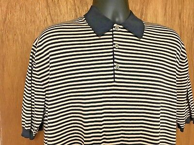 8669f86b4 Charles Tyrwhitt Mens Polo Shirt Short Sleeve Top Size Large BLACK &  BEIGE///