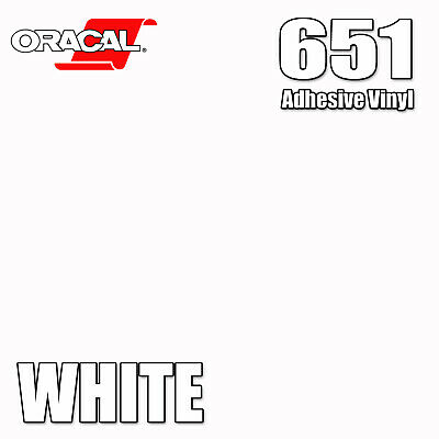 Oracal 651 WHITE Glossy Adhesive Vinyl Sheet/Roll for Craft Sign Cutter Cricut