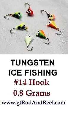 100Pcs Tungsten Unpainted Natural Ice Fishing Jigs,Teardrop or Pellet Head