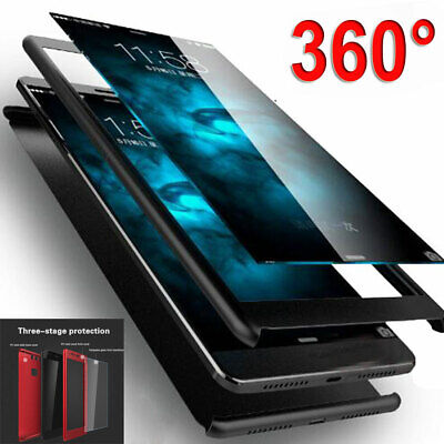 9H Tempered Glass Film+360° Plastic Armor Case for Huawei P30 Pro/Lite Y7 Y6 Pro