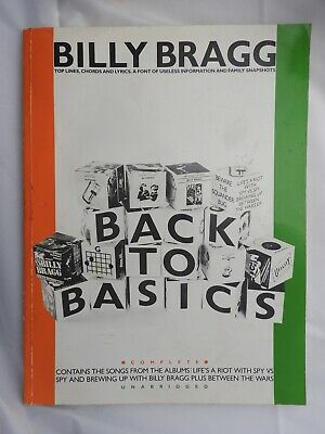 Billy Bragg - Back to Basics song book piano vocal guitar PVG