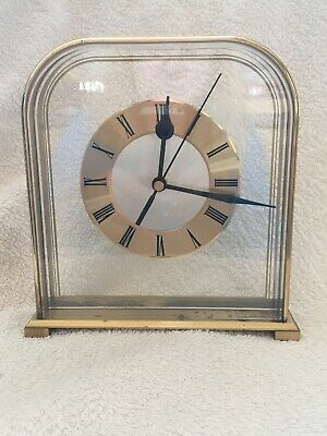 Acctim quartz mantel clock used in good working order with silent tick.