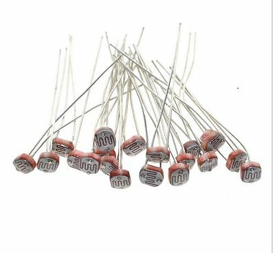 20x 5528 Light Dependent Resistor LDR 5MM Photoresistor