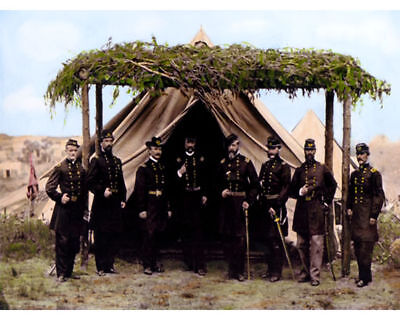 """Generals Of The Patomac Civil War 1865 8X10"""" Hand Color Tinted Photograph"""