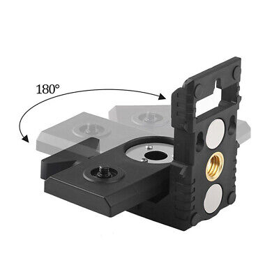 Pivoting Base L-shape Wall Mount Hanging Level Meter Adapter Rotatable Magnetic