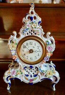 Ceramic French Wind Up Mechanical Mantle Clock