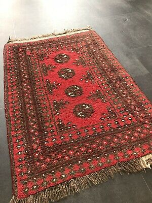Old Hand Woven Persian Oriential, Afghan Art Deco Yomut Rug