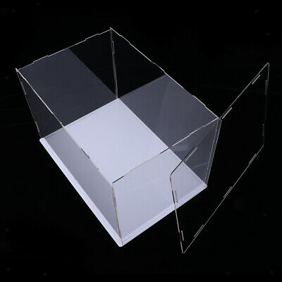Clear Acrylic Dustproof Cube Doll Display Case Box Rack Protector for Retail