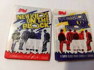 1989 Topps New Kids On The Block Wax Pack 2 Pack Lot