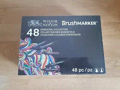 Winsor & Newton Set De 48 Rotuladores Brush Marker Coleccion Colores Esenciales