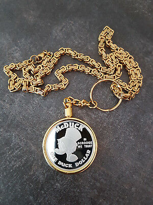 Extremely Rare! Walt Disney Scrooge McDuck First Dollar Coin with King Necklace