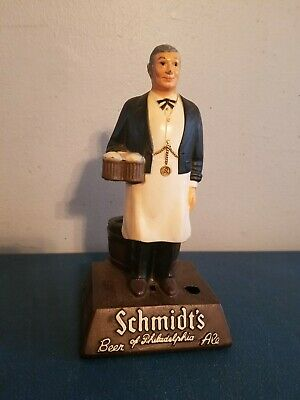 (VTG) 1960's Schmidt's Beer of Philadelphia Cast Metal guy back Bar Statue