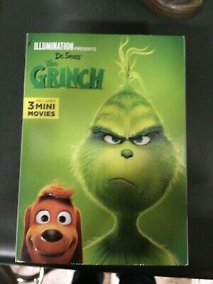 Dr. Seuss The Grinch Dvd With Slipcover Includes 3 Mini Movies