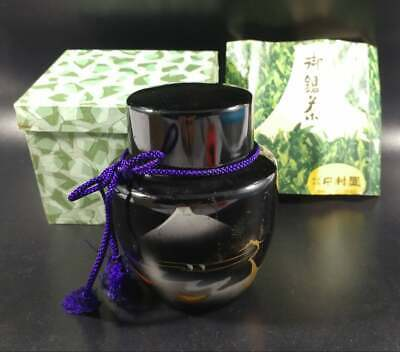 Japanese​ tea​ ​caddy​ Aluminum​ ​chaire​ container ceremony​ Bamboo pattern