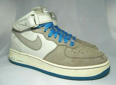 online store fed04 138f7 NIKE AIR FORCE 1 MID GS Junior Cool Grey  Blue Trainers UK 5.5 EU