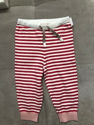 Mini Boden Girl Knit Pants White Pink Size 12-18 Month Toddler