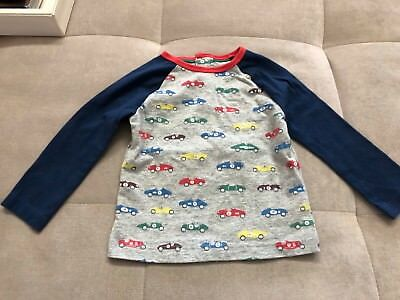 Baby Boden Baby Boys Shirt Size 6-12 Month Blue With Cars