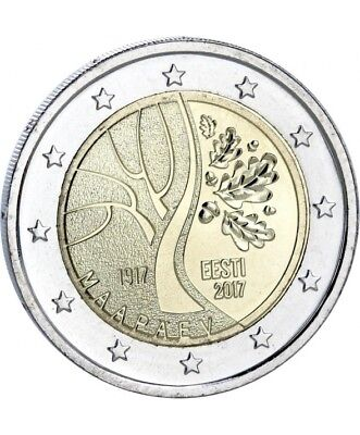 2 Euros Commemorative -Estonie-2017- Chemin De L'independance-Unc -Sous Capsule
