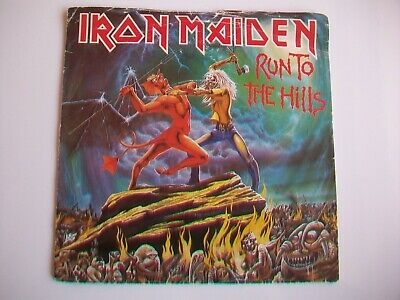 "Iron Maiden - Run To The Hills - Uk 7"" Single - 1982, Emi 5263, Plays Vg Cond."