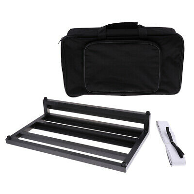 Black Aluminum Guitar Effect Pedalboard with Gig Bag for Guitar Accessories