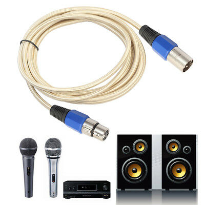 3Pin Microphone Mic Audio Cable Connector XLR Patch Lead Male to Female Plug