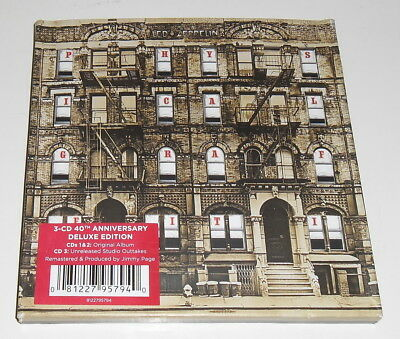 LED ZEPPELIN - PHYSICAL GRAFFITI - 3 x CD ALBUM 40th ANNIVERSARY DELUXE EDITION