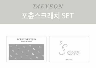 TAEYEON s...one CONCERT OFFICIAL GOODS FORTUNE SCRATCH SET + PHOTOCARD SEALED