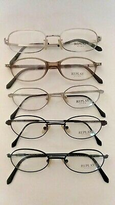 bdd2e0c38b7 Replay Eyes Eyeglasses Eye Glasses Frames Frame Lot (5) Pairs Authentic New