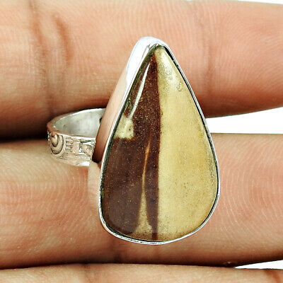 Natural Mookaite Handmade Jewelry 925 Solid Sterling Silver Ring Size 7 Jn996 Jewelry & Watches