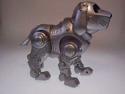 "GSR ROBOT ""TEKNO ROBOTIC DOG"" CHINA, PLASTIK, 25cm, LIKE NEW/ NEU/NEUF !"