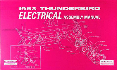 1963 thunderbird electrical wiring assembly manual 63 t bird tbird ford  diagrams