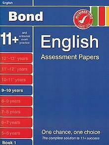 Bond Assessment Papers in English 9-10 years New Edit... | Book | condition good