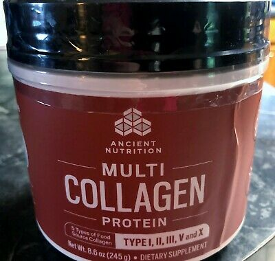 Ancient Nutrition Multi Collagen Protein Hair/Skin/Nails/Joint Health 8.6oz 8/20