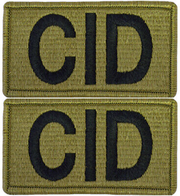 2 Pack U.S. Army CID Criminal Investigation Division OCP Hook Military Patches