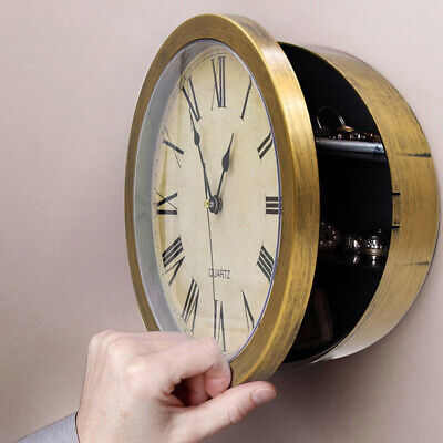 New Wall Clock Safe Box Home Office Security Secret Storage Best Designs
