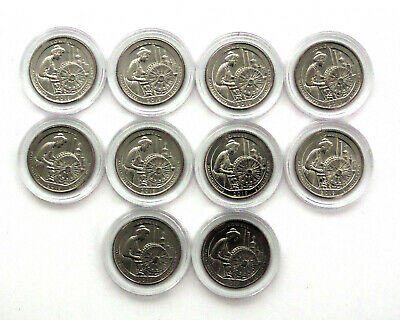 Lot of 10 - 2019 W Lowell National Park Quarter - Great American Coin Hunt!