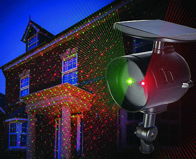 Solar Landscape Laser Light Flood Weatherproof xmas  Flashing garden party house
