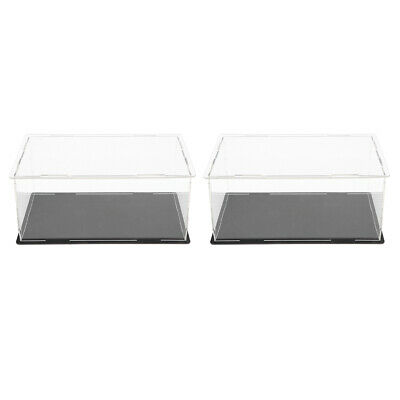 2pcs Clear Acrylic Display Box Case Dustproof for Action Figure Doll Models