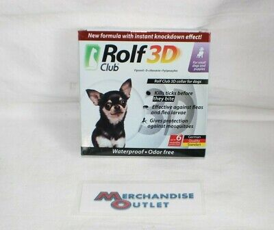 Rolf 3D Club Tick/Flea Collar for Small Dogs (EXP 11/2020)