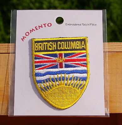 """British Columbia Canada 2 1/2"""" Embroidered Patch"""