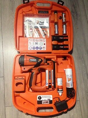 Paslode Impulse  IM65 F16 2nd fix nail gun with case with 2 battery and charger