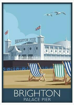 A3 A4 Size - Brighton Pier Old Vintage Travel Railway Poster