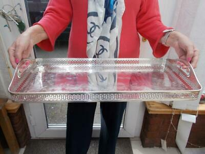 "Large Early 1900S Silver Plate Hotel Highlands Salmon Trout Tray 22"" (56Cm) Long"
