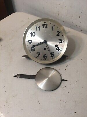 Antique German Westminster Chime Wall Clock Movement Pendulum Haller Mauthe Era