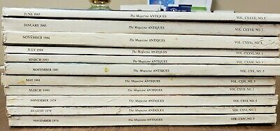 Lot of 11 The Magazine: Antiques  back issues MULTI YEARS(FC41.2)