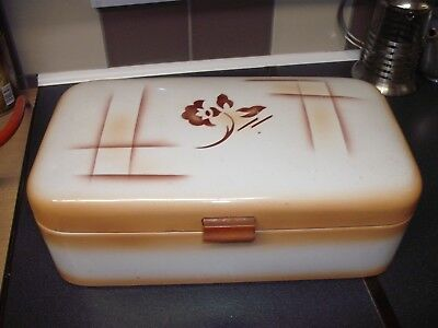 Enamel 1930's German Bread Bin Box Genuine 100% Vintage  USED condition  DRGM