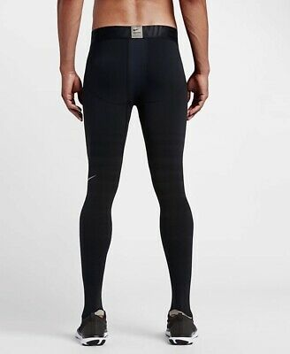 dafe8b5f8feae NIKE MEN HYPERRECOVERY Black Compression Training Sports Tight Pants ...