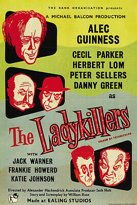 A3 A4 Size - The Ladykillers Ealing Comedy advertising Vintage Poster
