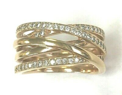 0aa067371 Pandora ALE Rose Gold Entwined ring clear stone size 8.5 180919cz-58  Closeout