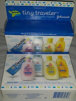 Lot of 2 sets Johnsons Traveler Baby Powder Lotion Wash Shampoo Diaper Cream